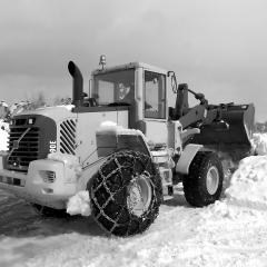 PHILIPP ForstWerkzeuge NORDCHAIN Forst Schneeketten für  Stapler, Winterdienstgeräte, Kleintraktoren