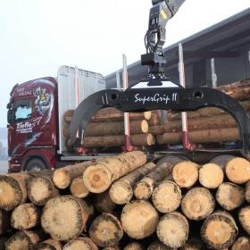 SuperGrip II 520 riesiges Volumen für Kurzholz, Querschnittsfläche, praktisch 0,65 m2