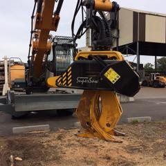 PHILIPP ForstWerkzeuge INDEXATOR IR Einbaurotator mit HULTDINS TL430 und HULTDINS SuperSaw 555 S