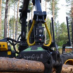 PHILIPP ForstWerkzeuge INDEXATOR Forst Rotator für Holzgreifer G 121 mit HULTDINS SuperGrip II