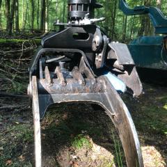 PHILIPP ForstWerkzeuge INDEXATOR Forst Rotator für Holzgreifer G 141 mit HULTDINS SuperSaw Easy Connect