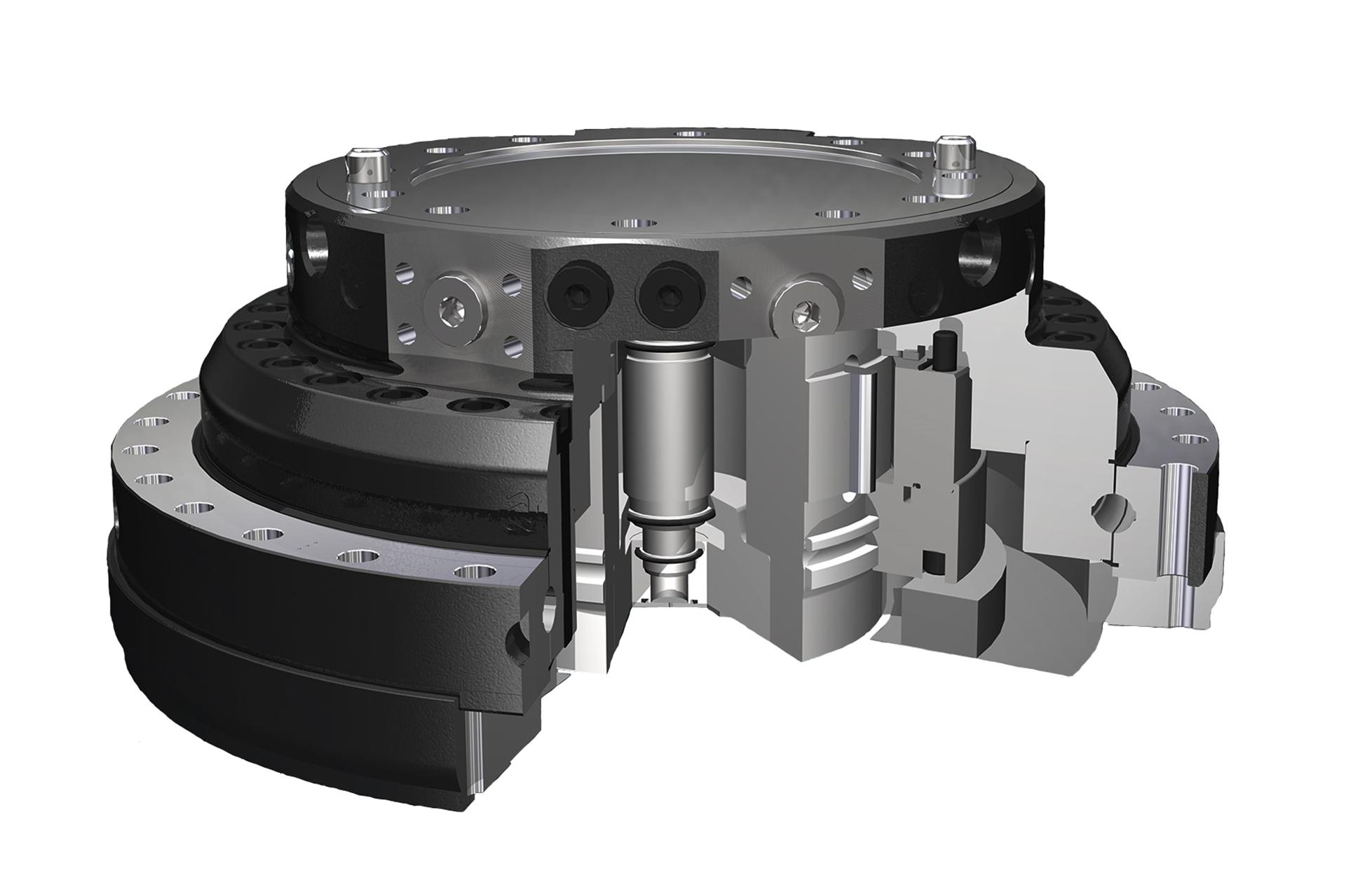 PHILIPP ForstWerkzeuge INDEXATOR Rotator XR, Kompaktrotatoren, XR-Kompaktrotator, hydraulischer Rotator, hydraulischer Drehservo, hydraulischer Drehmotor
