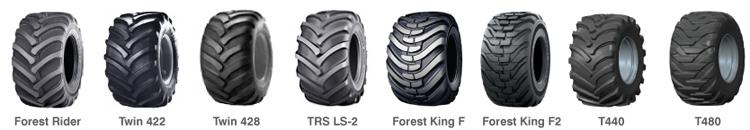 PHILIPP ForstWerkzeuge CLARK TRACKS Forstbänder Reifenauswahl, Reifentragfähigkeit, Reifentypen