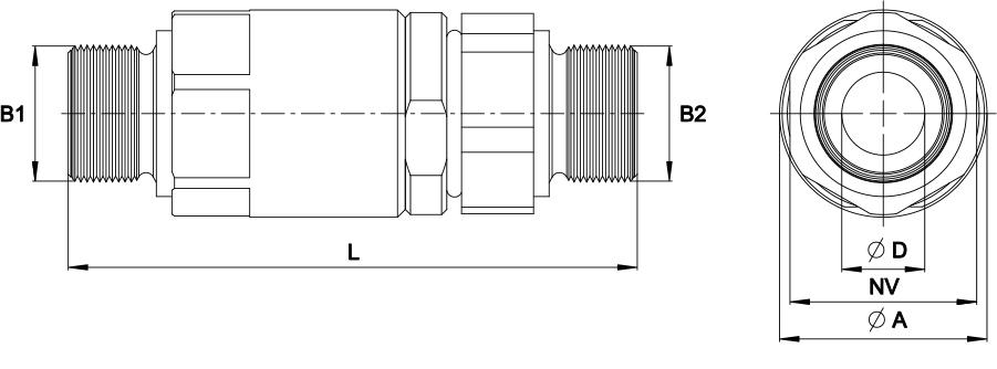 PHILIPP ForstWerkzeuge INDEXATOR Drehverschraubungen BSPP Außengewinde 60° Konus (eventuell mit ED Dichtung) x BSPP Außengewinde 60° Konus (G ED-AG x G-AG)