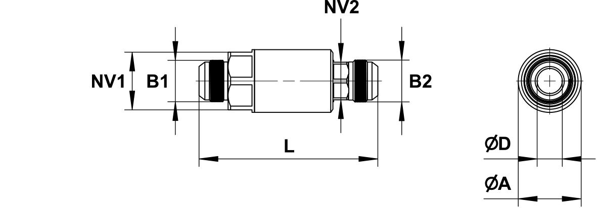 PHILIPP ForstWerkzeuge INDEXATOR Drehverschraubungen JIC Außengewinde 37° Konus x JIC Außengewinde 37° Konus (JIC-AG x JIC-AG),