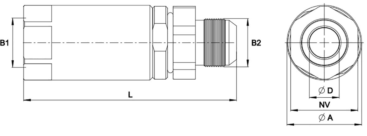 PHILIPP ForstWerkzeuge INDEXATOR Drehverschraubungen JIC Innengewinde x JIC Außengewinde 37° Konus (JIC-IG x JIC-AG)