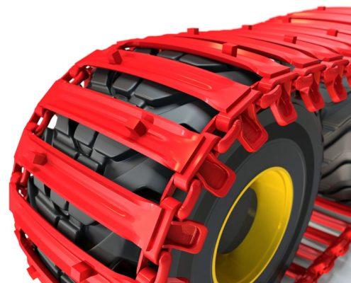 PHILIPP ForstWerkzeuge CLARK TRACKS Forstbänder für Weichböden, Flotation 15 (FL15), Detail