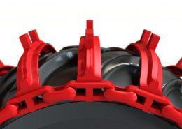 PHILIPP ForstWerkzeuge CLARK TRACKS Forstbänder Einzelräder, Grouzer Super Grip (GSG), Detail