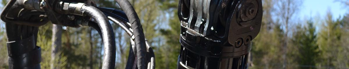 PHILIPP ForstWerkzeuge INDEXATOR Rotator H 171, Doppellaschen oben, Flansch unten, 16000 Kg statische Last, hydraulischer Rotator, hydraulischer Drehservo, hydraulischer Drehmotor