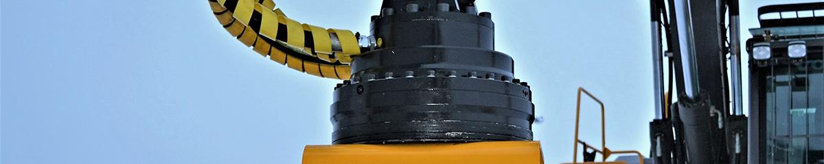PHILIPP ForstWerkzeuge INDEXATOR Rotator XR 400, 55000kg statische Last, 4100Nm, Kompaktrotatoren, XR-Kompaktrotator, hydraulischer Rotator, hydraulischer Drehservo, hydraulischer Drehmotor