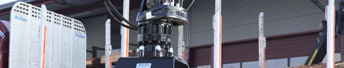 PHILIPP ForstWerkzeuge INDEXATOR Rotator GV 17 S, Laschen oben Flansch unten, 16000 Kg statische Last, Rotatoren für Holzgreifer, Drehmoment 3300 Nm