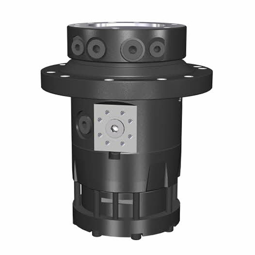 PHILIPP ForstWerkzeuge INDEXATOR Rotator IR 10, 25000 Kg statische Last, 2100 Nm, hydraulischer Rotator, hydraulischer Drehservo, hydraulischer Drehmotor