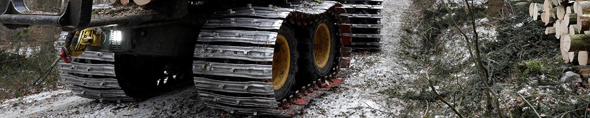 PHILIPP ForstWerkzeuge CLARK TRACKS Forstbänder, Individuelle Anpassungen, Spikes, Bodenplattenverbreiterung, Bodenplatten, Bänder mit Spikes