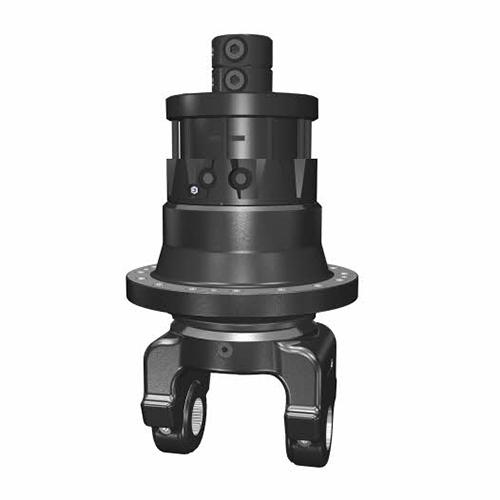 PHILIPP ForstWerkzeuge INDEXATOR Rotator SR 180, 13000 Kg statische Last, 2800 Nm, hydraulischer Rotator, hydraulischer Drehservo, hydraulischer Drehmotor, Zangenschlepper