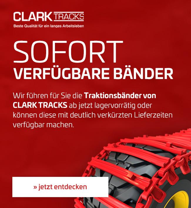 CLARK TRACKS Forstbänder für Forstmaschinen, Traktionsbänder