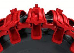 PHILIPP ForstWerkzeuge CLARK TRACKS Forstbänder Einzelräder, TXSG, Detail