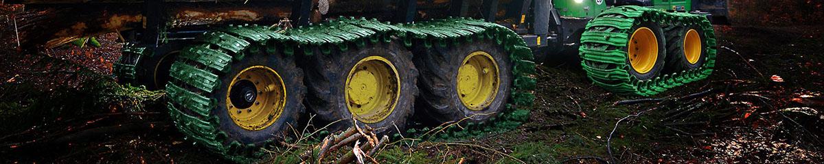 PHILIPP ForstWerkzeuge CLARK TRACKS Forstbänder, Einzelräder, Bänder für Einzelrad, Grouzer Super Grip, GSG Band, Einzelradband, Traktion, Bänder für Harvester, Bänder für Skidder, Bänder für Forstschlepper, Moorband, Band für Weichboden