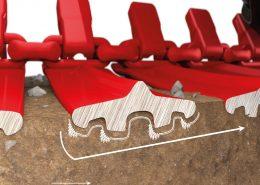 PHILIPP ForstWerkzeuge CLARK TRACKS Forstbänder Bodenschonung, TXL Zugkraft