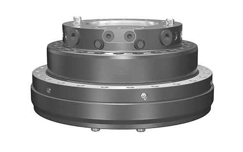 PHILIPP ForstWerkzeuge INDEXATOR Rotator XR 500, 70000 Kg statische Last, 7000 Nm, Kompaktrotatoren, XR-Kompaktrotator, hydraulischer Rotator, hydraulischer Drehservo, hydraulischer Drehmotor